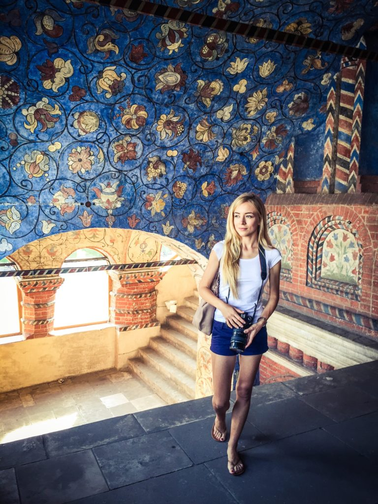 Aggie in Saint Basil's Cathedral