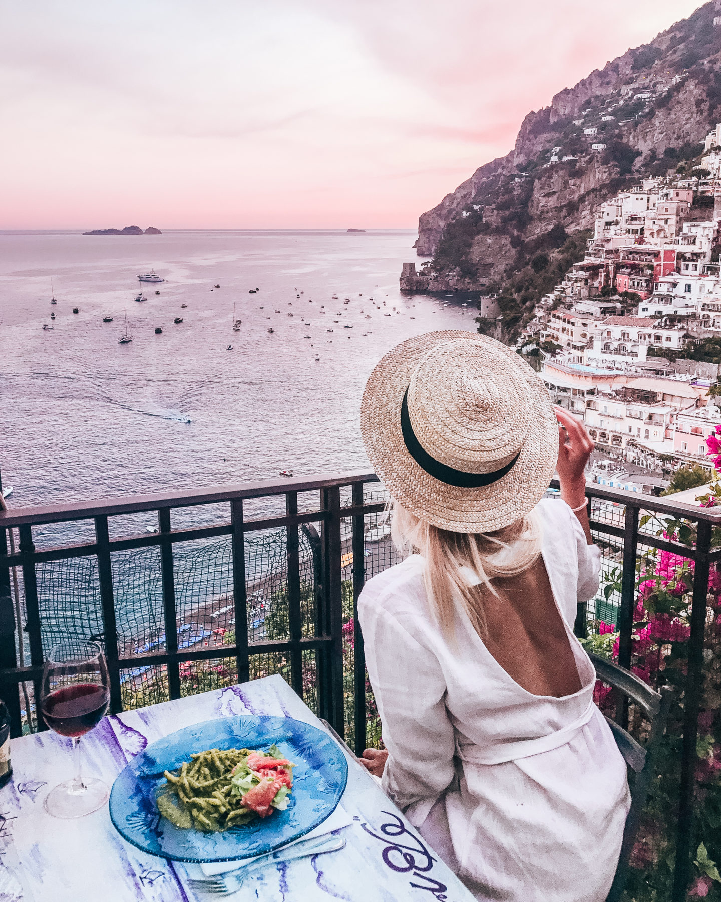 Positano, Amalfi Coast with What Anna Wears